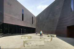 de Young Museum入口的广场  图库摄影