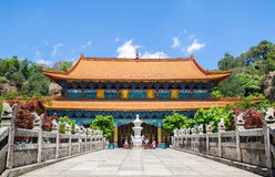De Yuantongtempel is de beroemdste Boeddhistische tempel in Kunming, Yunnan-provincie, China Royalty-vrije Stock Foto