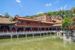 De Yuantongtempel is de beroemdste Boeddhistische tempel in Kunming, Yunnan-provincie, China Royalty-vrije Stock Afbeeldingen