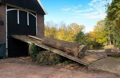 De zaagmolen van Singraven in Nederland stock afbeeldingen