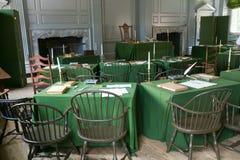 De Zaal van de Assemblage waar de Verklaring van Onafhankelijkheid en de Grondwet van de V S De grondwet werd ondertekend in Onaf stock foto's
