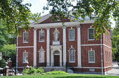 De Zaal van de bibliotheek in Philadelphia stock foto