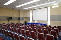 De zaal van de conferentie. Stock Afbeeldingen
