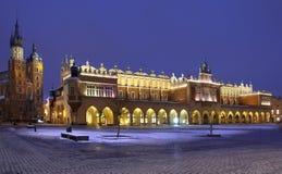 De Zaal van de doek - Rynek Glowny - Krakau - Polen Royalty-vrije Stock Foto