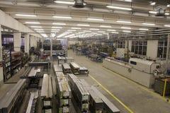 De zaal van de fabriek Royalty-vrije Stock Afbeeldingen
