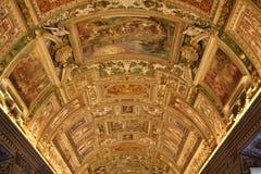 De Zaal van de Kaart van de Kapel van Sistine Stock Afbeelding