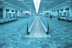De zaal van de luchthaven Stock Foto