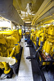De Zaal van de Motor van de sleepboot stock foto