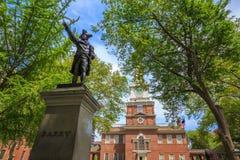 De Zaal van de onafhankelijkheid in Philadelphia royalty-vrije stock foto's