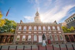 De Zaal van de onafhankelijkheid in Philadelphia, Pennsylvania stock foto's