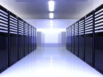De Zaal van de server Stock Afbeeldingen