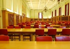 De Zaal van de studie van Universitaire Bibliotheek royalty-vrije stock afbeelding