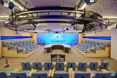 De zaal van de voorzitter in Internationaal centrum van verschillende media Royalty-vrije Stock Foto's