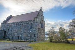 De Zaal van Haakon in Bergenhus-Vesting in Bergen, Noorwegen Royalty-vrije Stock Foto's