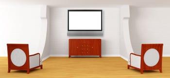 De zaal van het album met stoelen en dienst royalty-vrije illustratie