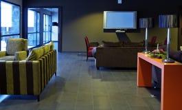 De zaal van het hotel stock foto