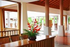 De zaal van het hotel Stock Afbeelding