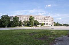 De Zaal van het Nurnbergcongres - Kongresshalle Stock Afbeeldingen