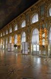 De zaal van het Paleis van Catherine, Tsarskoe Selo, Rusland. stock foto