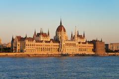 De Zaal van het Parlement in Boedapest Royalty-vrije Stock Foto