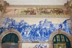 De zaal van het station van Porto, Portugal. stock afbeeldingen