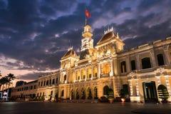 De zaal van Ho-Chi-Minh-Stad Stock Afbeelding