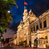 De zaal van Ho-Chi-Minh-Stad Royalty-vrije Stock Foto's