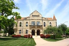 De Zaal van Holton - de Universiteit van de Staat van Kansas stock foto