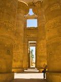 De zaal van Karnak hipostyle Stock Afbeelding