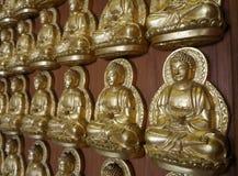 De Zaal van Meunbuddhasukkhavadi met duizenden kleine beelden van Boedha Royalty-vrije Stock Foto