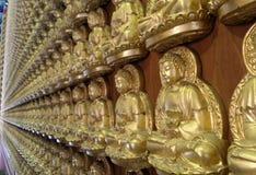 De Zaal van Meunbuddhasukkhavadi met duizenden kleine beelden van Boedha Stock Afbeelding