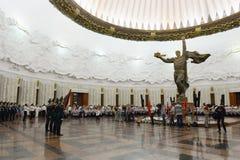 In de zaal van militaire glorie het Museum van de grote Patriottische oorlog op Poklonnaya-heuvel Stock Afbeeldingen