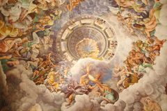 De zaal van de reuzen in Palazzo del Te, Mantua, Italië royalty-vrije stock foto's