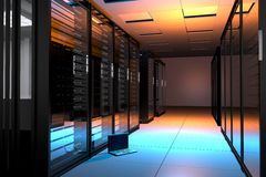 De Zaal van servers Stock Fotografie