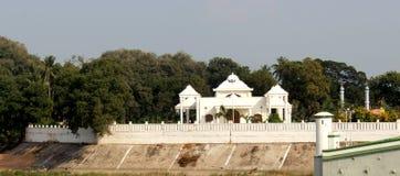 De zaal van TheKarikalacholan Manimandapam- in Grote Kallanai wordt gesitueerd die stock afbeelding