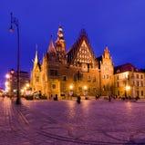 De Zaal van Townn in Wroclaw stock afbeeldingen