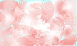 De zachte achtergrond van de plonspastelkleur in roze tinten vector illustratie
