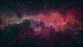 De zachte bewegende nevelruimte speelt de animatie van de van de achtergrond nachthemel toneel kleurrijk de school koel onderwijs stock illustratie