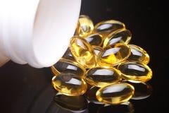 De Zachte Gelen van de vitamine E Royalty-vrije Stock Foto's