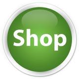 De zachte groene ronde knoop van de winkelpremie Stock Foto