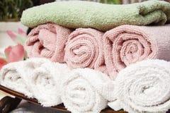 De zachte Handdoeken van de Pluche Royalty-vrije Stock Afbeeldingen