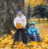 De zachte herfst in stadspark. royalty-vrije stock fotografie
