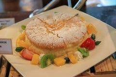 De zachte & jepanese Chesses cake van Lighe royalty-vrije stock afbeelding
