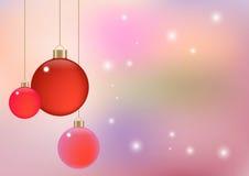 De zachte kleuren abstracte achtergrond, Vectorillustratie kan Kerstmis of het nieuwe thema van de jaarpartij gebruiken Stock Foto's