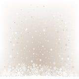 De zachte lichte achtergrond van het sneeuwnetwerk Royalty-vrije Stock Fotografie
