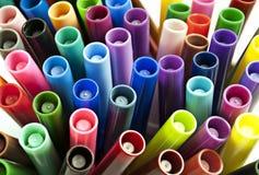De zachte pennen van de kleur, tellers Royalty-vrije Stock Fotografie