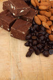 De zachte toffee van de chocolade Stock Afbeeldingen