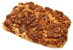 De zachte toffee van de pindakaaschocolade stock fotografie