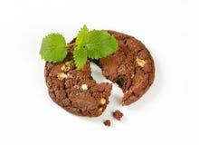 De zachte toffeekoekje van de chocoladenoot Royalty-vrije Stock Foto's