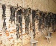 De zadels van het paard Stock Foto's